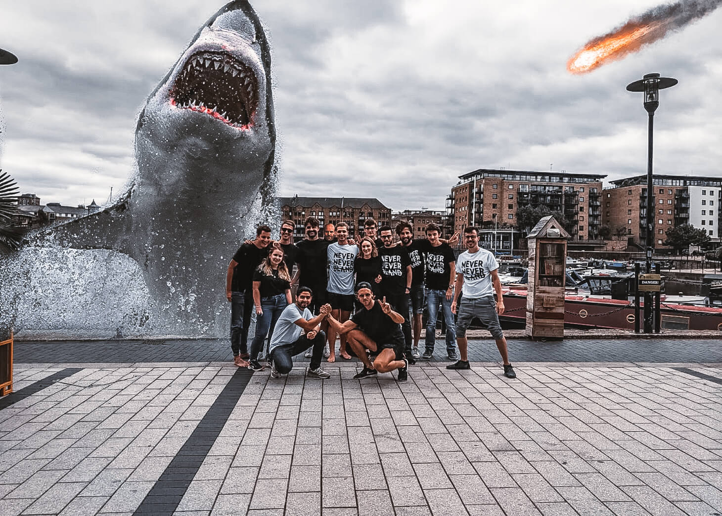 The Neverbland team with The Meg